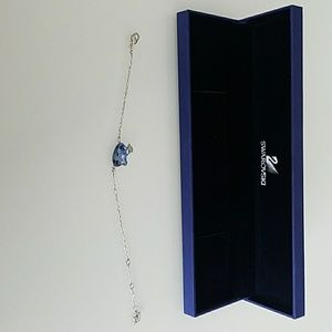 Swarovski bracelet w/ blue kitty